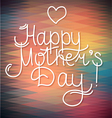 Happy mothers day card design letterind and geom vector image vector image