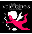 happy valentine s day cute design template with vector image vector image
