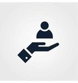 Human resource icon simple vector image
