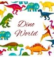 Jurassic park cartoon dinosaurs poster vector image
