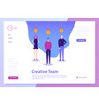 landing web page concept coworking vector image vector image