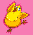 Little chicken on pink vector image vector image