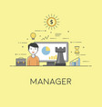 manager strategy in business and finance digital vector image vector image