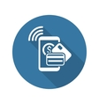 Mobile Payment Icon Flat Design vector image vector image