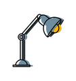 office light lamp on desk vector image vector image