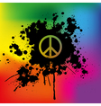 Peace sign on rainbow background vector | Price: 1 Credit (USD $1)