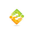 people business hand teamwork icon logo vector image vector image