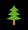 pine tree merry christmas icon set 1 flat design vector image vector image