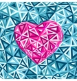 Pink abstract valentines day heart vector image vector image