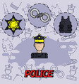 police flat concept icon vector image