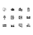private medical clinic glyph icons set vector image vector image