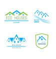real estate logo design vector image vector image