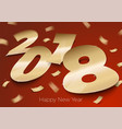 realistic bright golden foil number 2018 vector image vector image