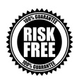 risk free design vector image