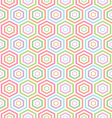 seamless pastel Hexagon pattern background vector image vector image
