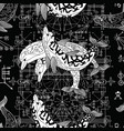 seamless pattern with three dolphins vector image vector image