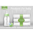 set of baby care accessories vector image