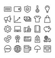 shopping and e commerce icons 6 vector image vector image