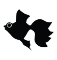 silhouette of goldfish vector image vector image
