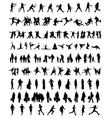 silhouettes people 2 vector image vector image