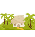 small house in wild jungles natural landscape vector image vector image