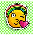 smile in love emoticon vector image vector image