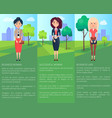 successful lady business woman colorful banner vector image vector image