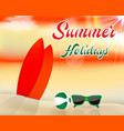 summer beach background with surfboards vector image vector image
