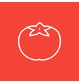 Tomato line icon vector image vector image