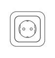 type e socket ac power socket icon european union vector image vector image