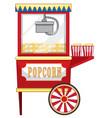 vendor design at funfair for popcorn vector image vector image