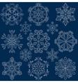 vintage ornamental snowflake set in entangle vector image