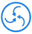 vortex arrows rounded grainy icon vector image vector image