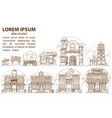 wild west game background buildings and household vector image vector image
