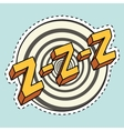 Zzz sound sleep and zumm vector image