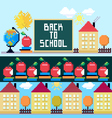 Back to school set of the objects and brushes vector image