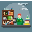 Flat stylish design for business education concept vector image