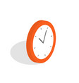 isometric clock icon alarm clock wake-up time vector image