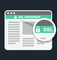Secure online payment icon - ssl green bar vector image