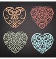 Heart pattern set vector image