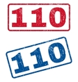 110 Rubber Stamps vector image vector image