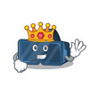 a stunning vr virtual reality stylized king vector image vector image