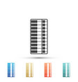 abacus icon isolated on white background vector image vector image