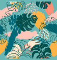 abstract creative seamless pattern with tropical vector image vector image