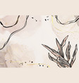 abstract dusty pink and grey liquid watercolor vector image vector image