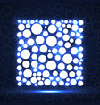abstract square of glowing circles vector image vector image