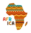 African ethnic background with of ornate map vector image vector image