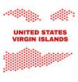 american virgin islands map - mosaic of valentine vector image vector image