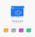 api app coding developer software 5 color glyph vector image
