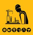 architect and engineering tool icons vector image